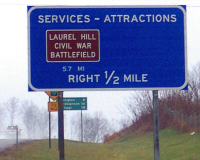 Laurel Hill Highway Sign