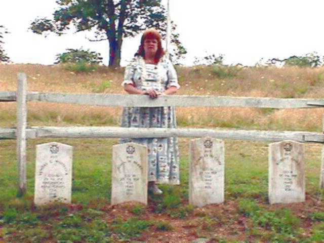 Lynne and grave markers