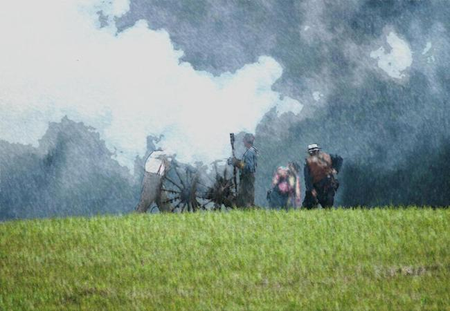 Cannon Smoke At Laurel Hill